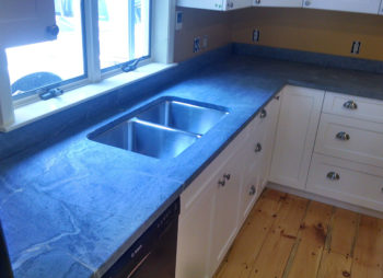 Soapstone Kitchen Counter with sink