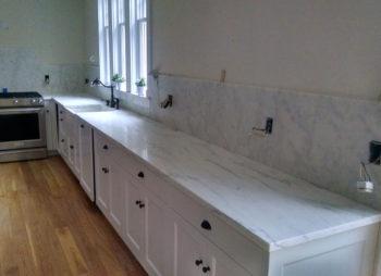 Custom Marble Counter and Backsplash